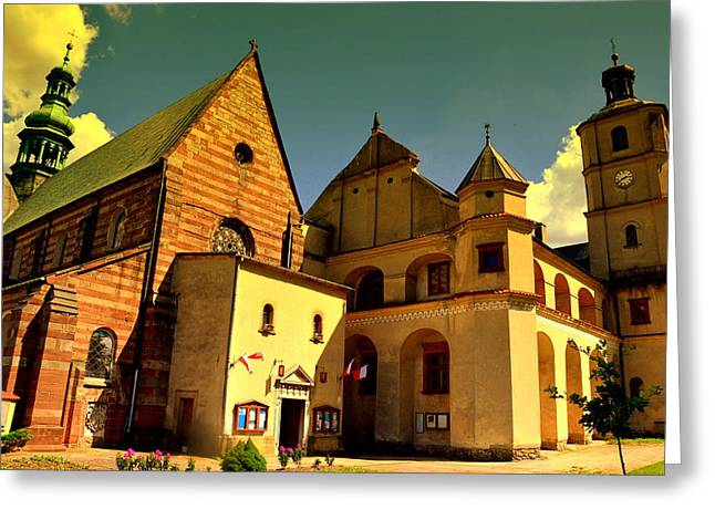 Monastery In The Wachock/poland Greeting Card