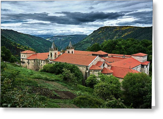 Monastery Of Santo Estevo De Ribas Del Sil Greeting Card