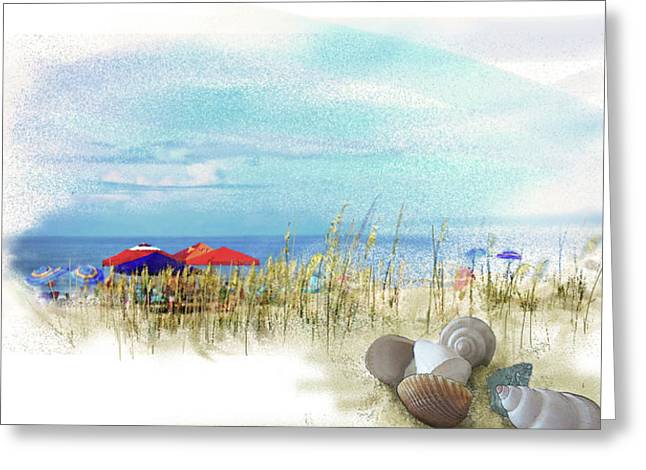 Greeting Card featuring the digital art Monday Afternoon by Gina Harrison