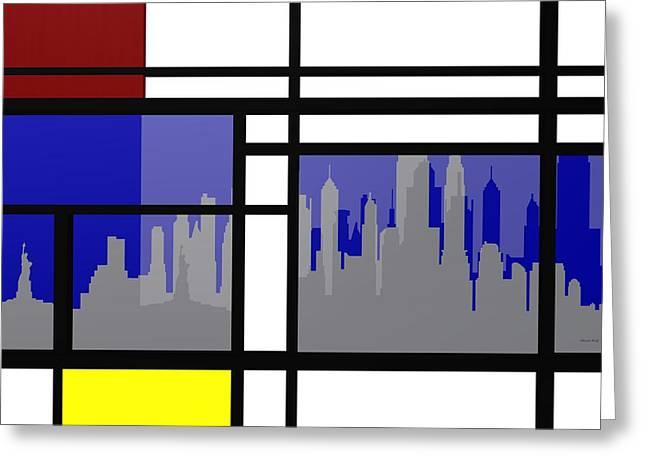 Mondrian In N Y Greeting Card