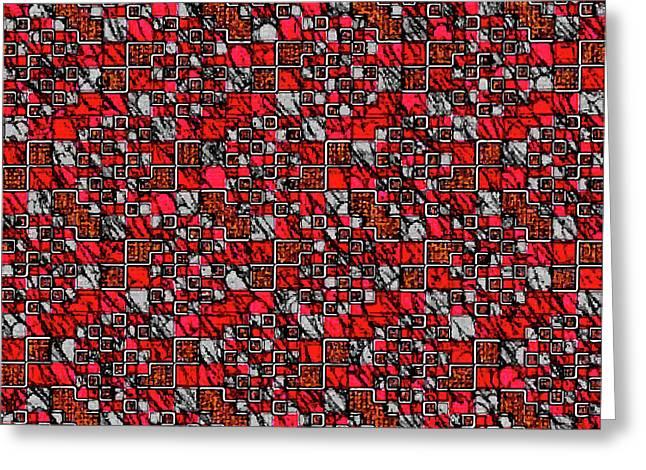 Mondrian Mosaic Greeting Card by Aleksei Titov
