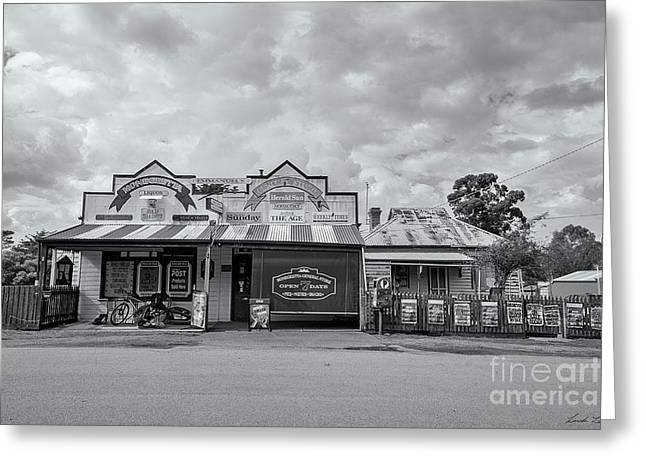 Greeting Card featuring the photograph Monegeetta General Store by Linda Lees