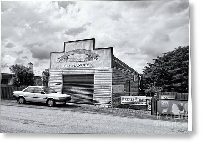 Greeting Card featuring the photograph Monegeetta Produce Store by Linda Lees