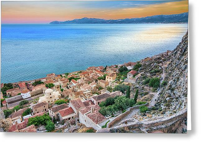 Monemvasia / Greece Greeting Card by Stavros Argyropoulos