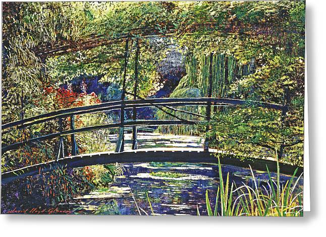 Most Popular Paintings Greeting Cards - Monet Greeting Card by David Lloyd Glover