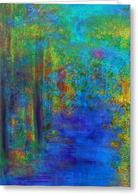 Monet Woods Greeting Card by Claire Bull