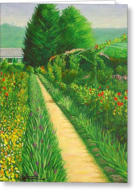 Monets Garden In Giverny France Greeting Card by Gary  Hernandez
