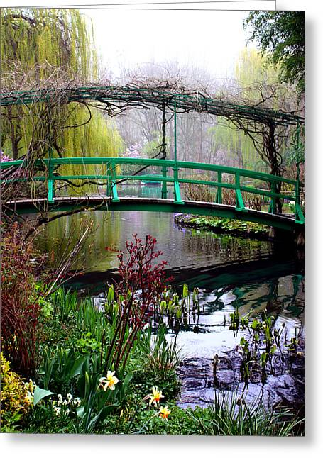 Monet's Magical Bridge Greeting Card