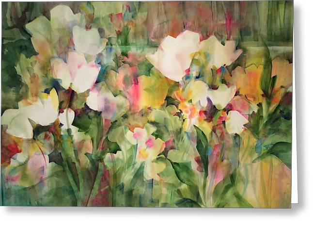 Monet's Tulips Greeting Card