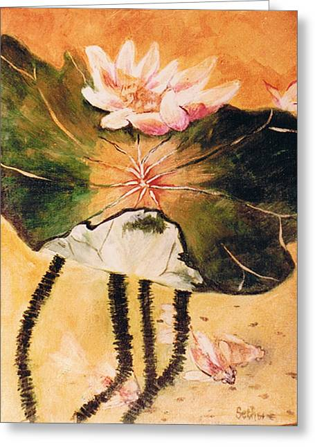 Monet's Water Lily Greeting Card by Seth Weaver