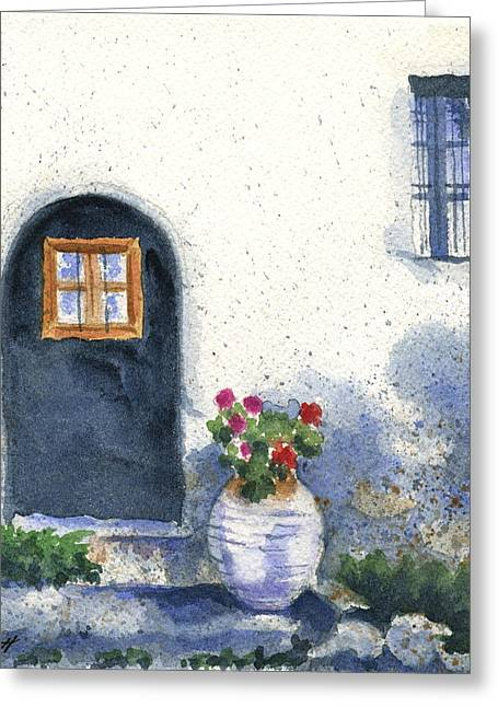Monevasia Doorway Greeting Card