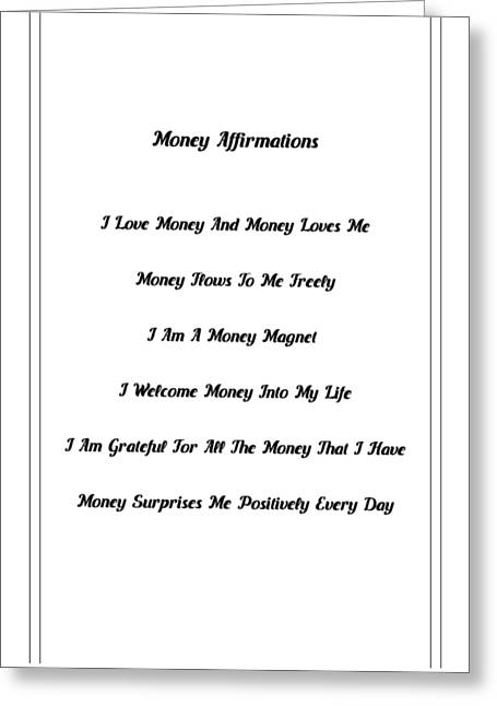 6 Powerful Money Affirmations Greeting Card