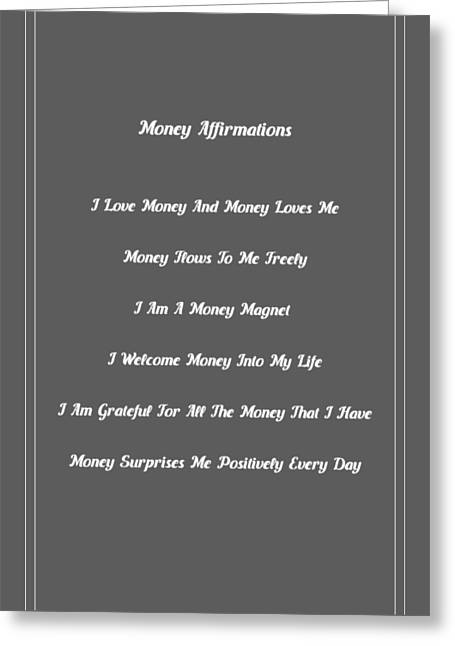 6 Powerful Money Affirmations Greeting Card by Affirmation Today