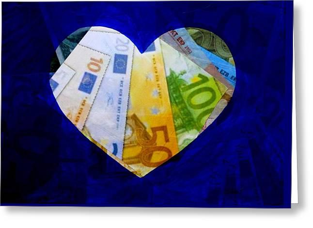 Money Collage II Greeting Card by John  Nolan