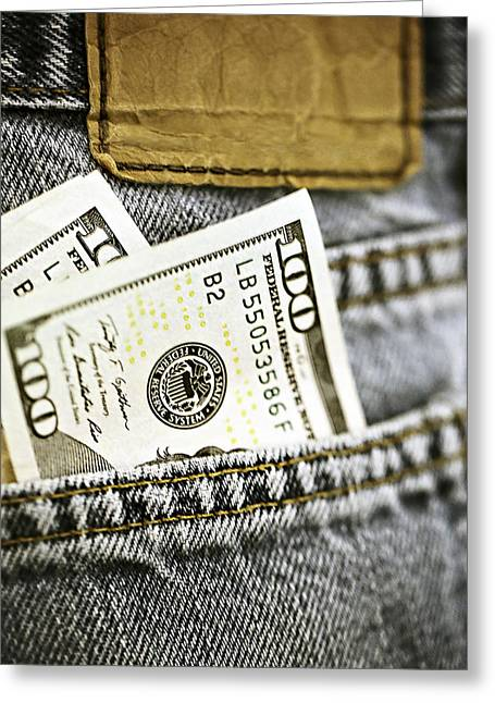 Money Jeans Greeting Card