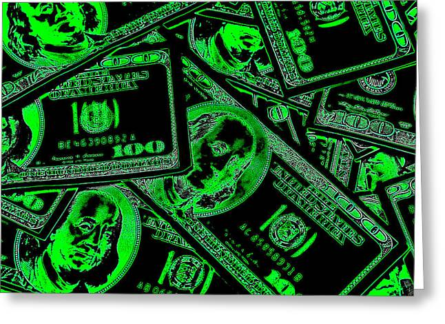 Money Money Money Greeting Card by Michael Ledray
