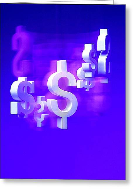 Money Problems Greeting Card by Steven Huszar