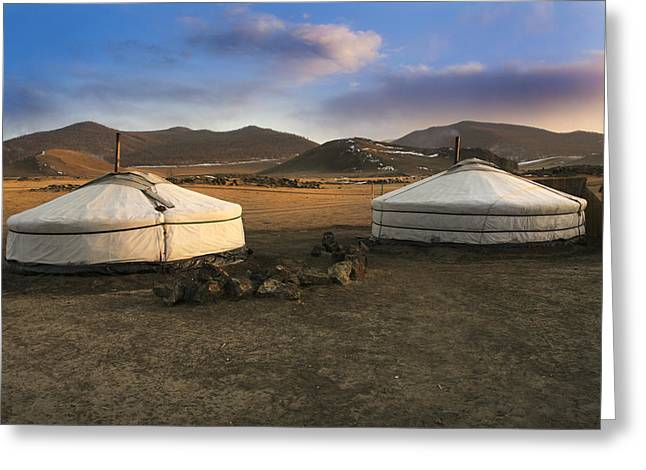 Mongolian Serenity Greeting Card