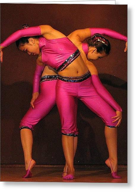 Mongolian Women Dancers Greeting Card