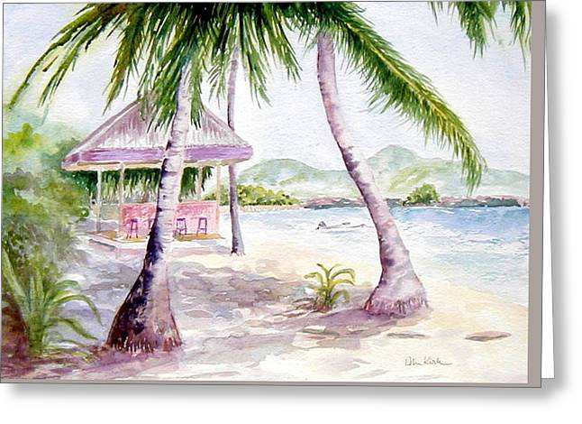 Mongoose Beach Bar Greeting Card