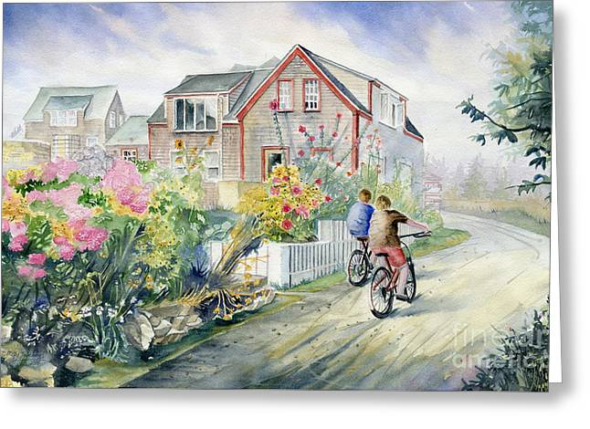 Monhegan Avenue  Greeting Card by Melly Terpening