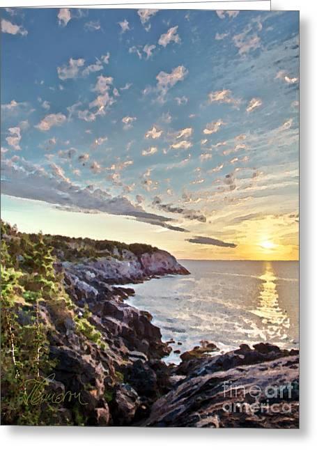 Monhegan East Shore Greeting Card