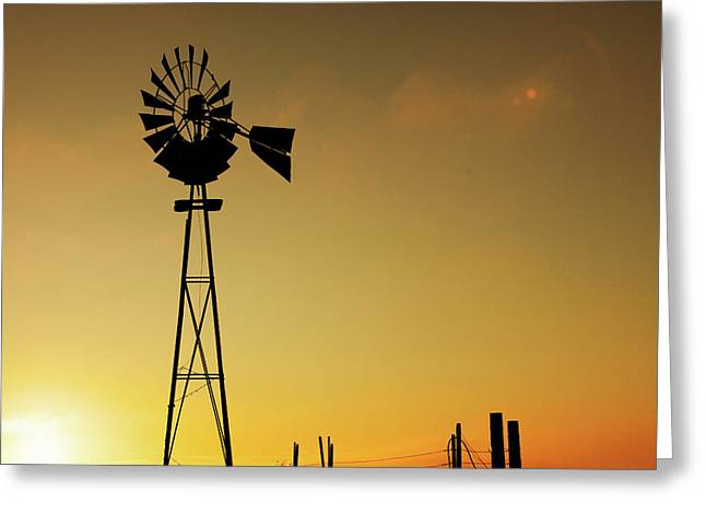 Monitor Silhouette Greeting Card by Todd Klassy