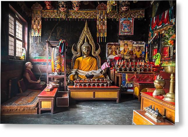 Kathmandu Monk Greeting Card