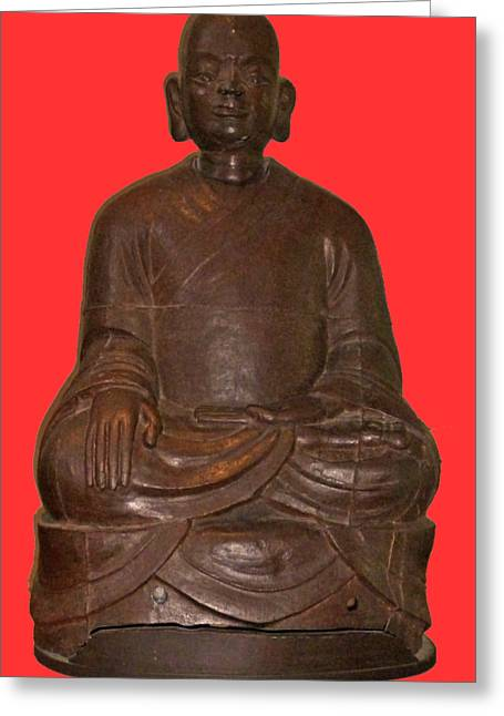 Monk Seated Greeting Card