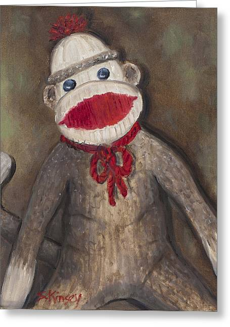 Monkey Business Greeting Card by Sheila Kinsey