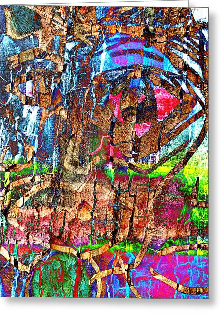 Mix Medium Pastels Greeting Cards - Monkey In The Tree Greeting Card by Rene Avalos