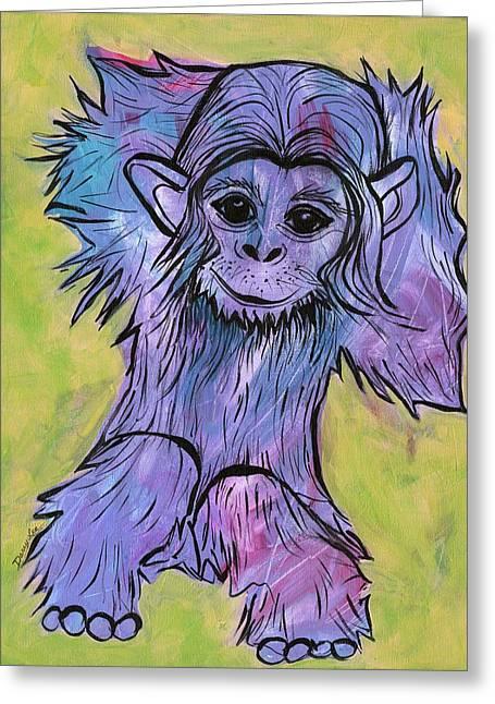 Monkey Mischief Greeting Card