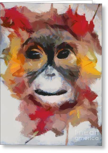 Monkey Splat Greeting Card