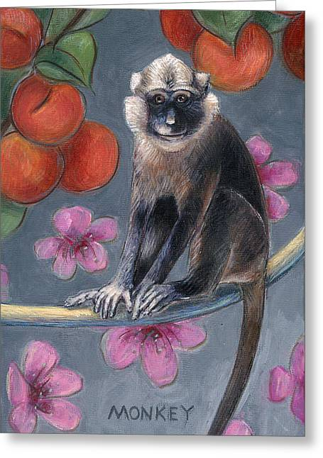 Monkey Year Greeting Card by Montana Black