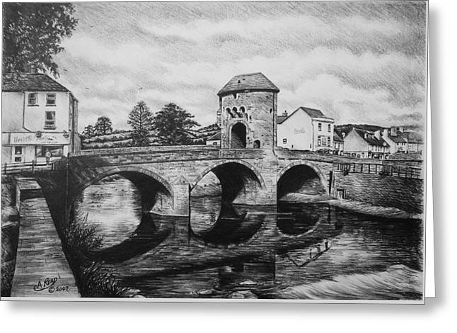 Monnow Bridge Greeting Card
