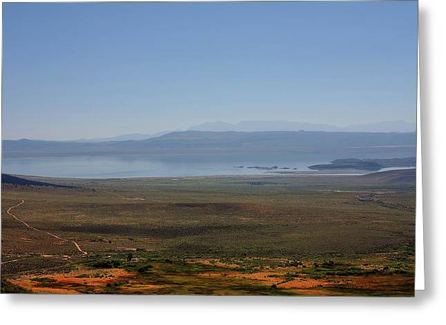 Mono Basin Landscape - California Greeting Card by Christine Till