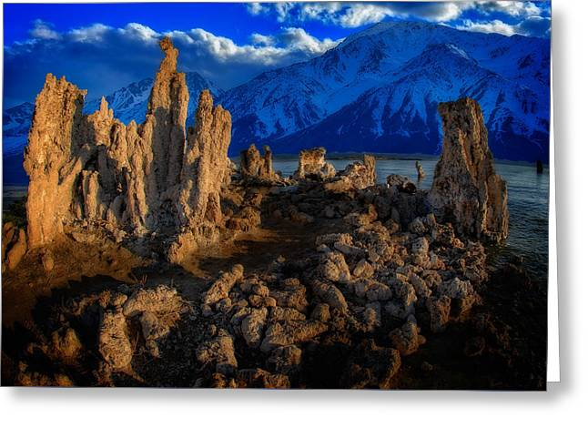 Greeting Card featuring the photograph Mono Lake by Harry Spitz