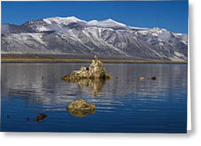 Mono Lake Pano Greeting Card by Wes and Dotty Weber