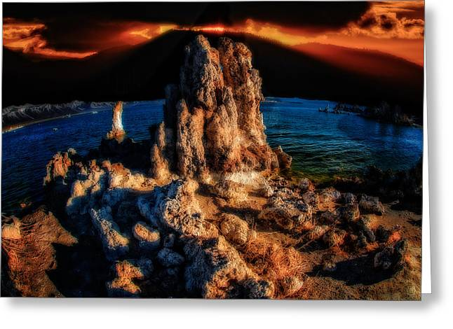 Greeting Card featuring the photograph Mono Lake Sunset by Harry Spitz
