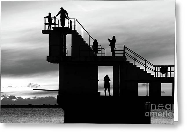 Mono Sunset Blackrock  Greeting Card