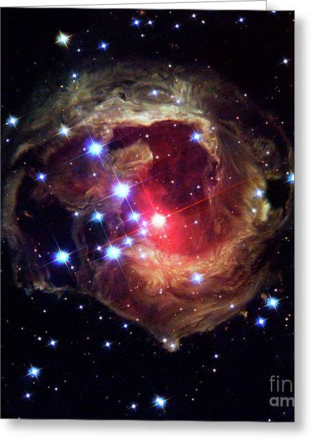 Monocerotis, Red Variable Star, Astronomy, Space Greeting Card by Tina Lavoie