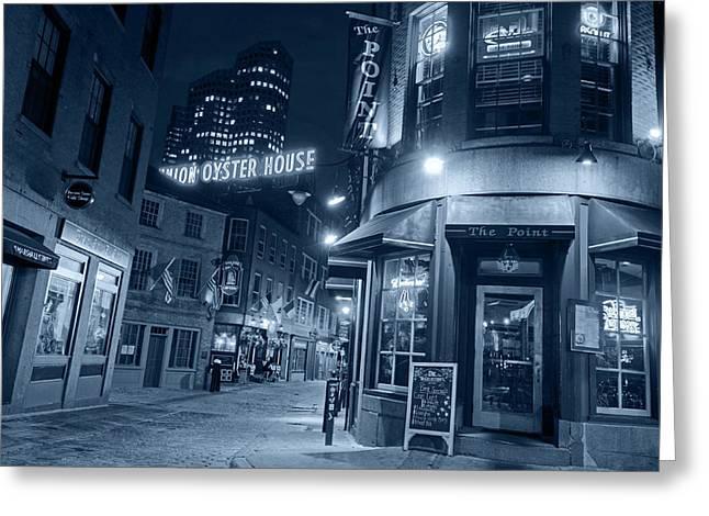 Monochrome Blue The Point Marshall Street Boston Ma Greeting Card