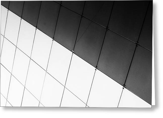 Monochrome Building Abstract 3 Greeting Card