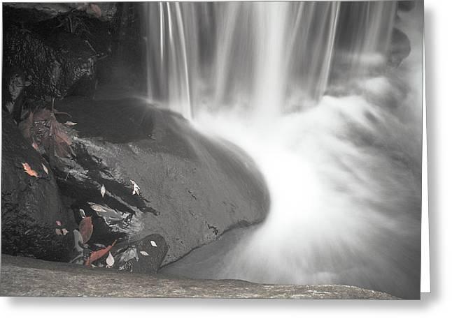 Monochrome Falls Greeting Card by Jim DeLillo