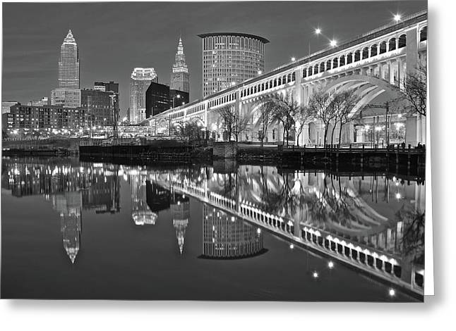 Monochrome Reflection Greeting Card by Frozen in Time Fine Art Photography
