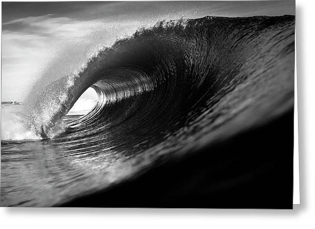 Monochrome Tube Greeting Card by Ryan Moore