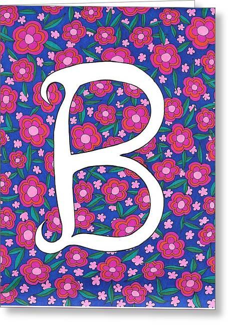 Monogram B Greeting Card