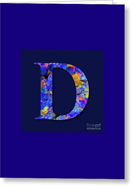 Monogrammed D, M1 Greeting Card