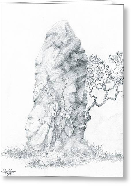 Monolith 2 Greeting Card by Curtiss Shaffer