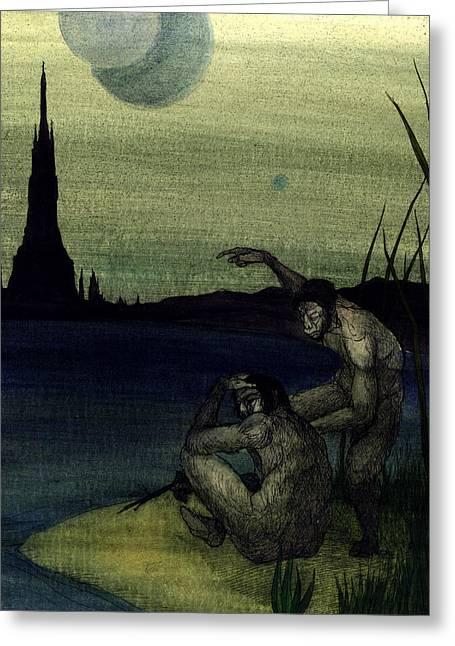 Monolith Greeting Card by Joseph Demaree